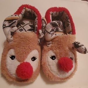 Kenzie Holiday Reindeer Slippers Size 8